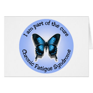 ¡Notecard de la conciencia del CFS - añada su Tarjeta Pequeña