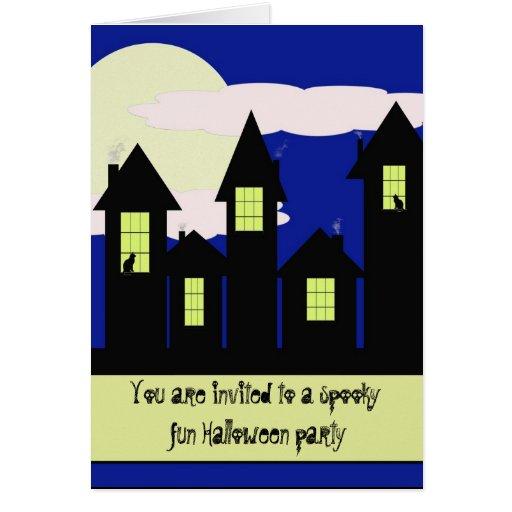 Notecard de la invitación de Halloween… Tarjeta Pequeña