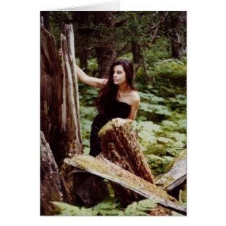 Notecard de la ninfa de madera tarjetas