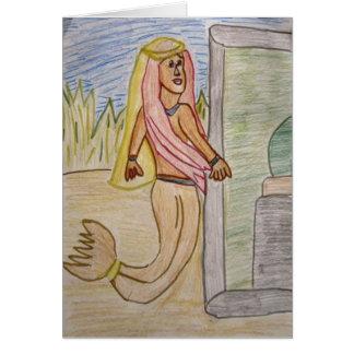 Notecard de la princesa de la sirena tarjeta pequeña