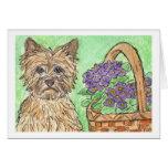 Notecard de la tarjeta de cumpleaños de Terrier de