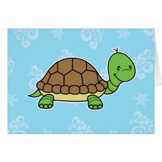Notecard de la tortuga tarjeta pequeña