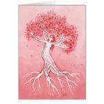 Notecard de las flores de cerezo felicitacion