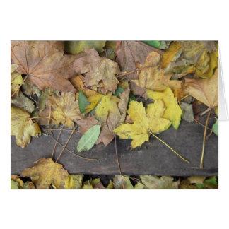 Notecard de las hojas del otoño de Escocia Tarjeta Pequeña