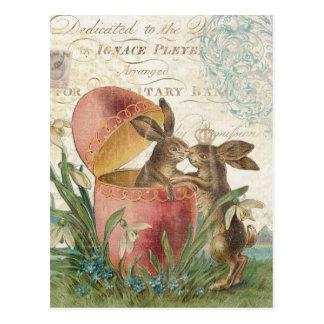 Notecard de los conejitos de pascua del vintage postal