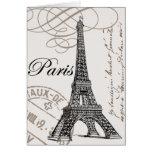 Notecard de París del vintage… Tarjetas