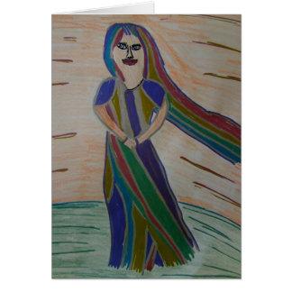 Notecard de señora Rainbow de Ixchel Tarjeta Pequeña