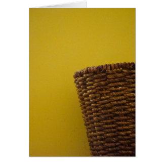 Notecard del amarillo y de la cesta tarjeta pequeña
