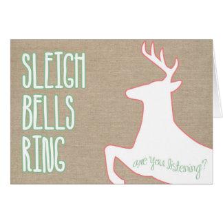 notecard del anillo de las campanas de trineo tarjeta pequeña