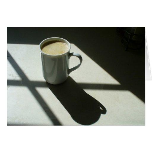 Notecard del café #4 de la buena mañana tarjeta