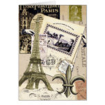 Notecard del collage de París del vintage… Felicitaciones