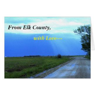 Notecard: Del condado de Elk, con amor--- Tarjeta Pequeña