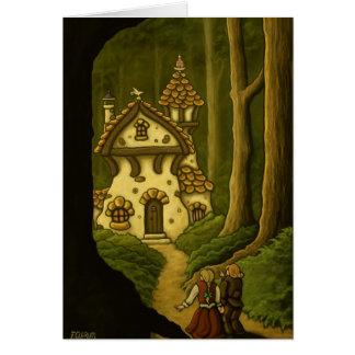 Notecard del cuento de hadas de Hansel y de Gretel Tarjeta Pequeña