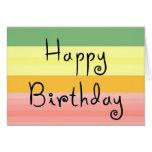 notecard del feliz cumpleaños tarjeta