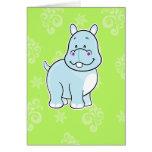 Notecard del hipopótamo felicitación