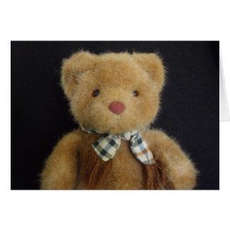Notecard del oso de peluche tarjeta pequeña