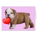 Notecard del perrito del dogo de las tarjetas del
