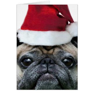 Notecard del perro del barro amasado del navidad tarjeta pequeña