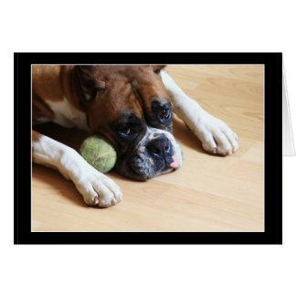 Notecard del perro del boxeador tarjeta pequeña