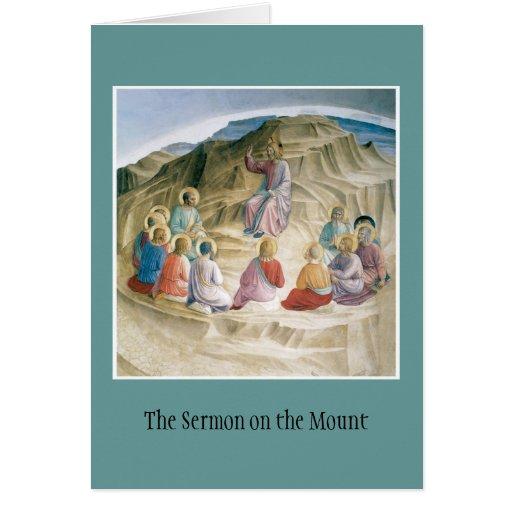 Notecard del sermón de la montaña tarjeta pequeña