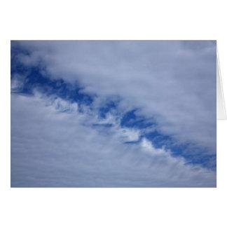 Notecard desabrochado de la foto de las nubes tarjeta pequeña
