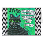 NOTECARD-DOGS FEARED HIM, CATS REVERED HIM CARD