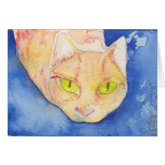 Notecard dulce del gatito tarjeta de felicitación