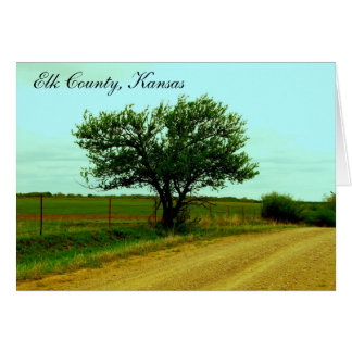 Notecard: Elk County, Kansas Stationery Note Card