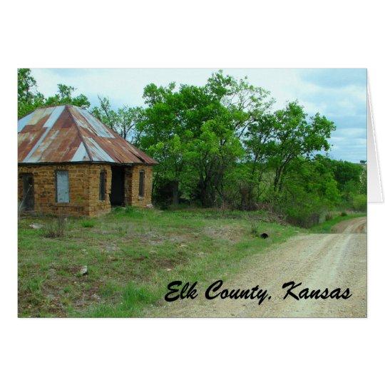 Notecard: Elk County, Kansas Card