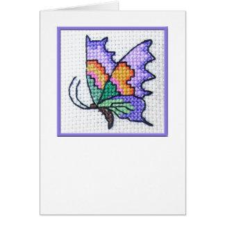 Notecard en blanco 01 de la mariposa tarjeta pequeña