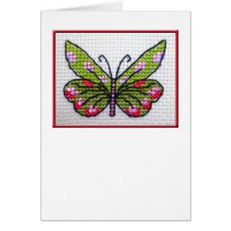 Notecard en blanco 02 de la mariposa tarjeta pequeña