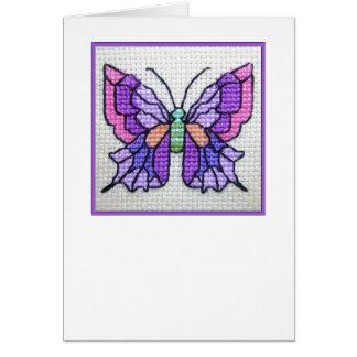 Notecard en blanco 03 de la mariposa tarjeta pequeña