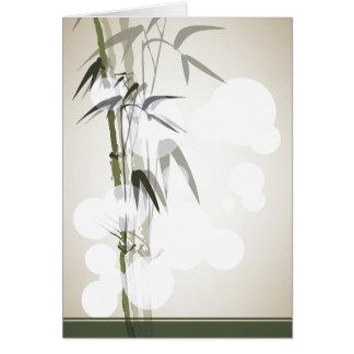 Notecard en blanco de bambú tarjeton
