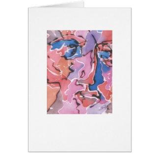 Notecard en blanco de la cara abstracta tarjetón