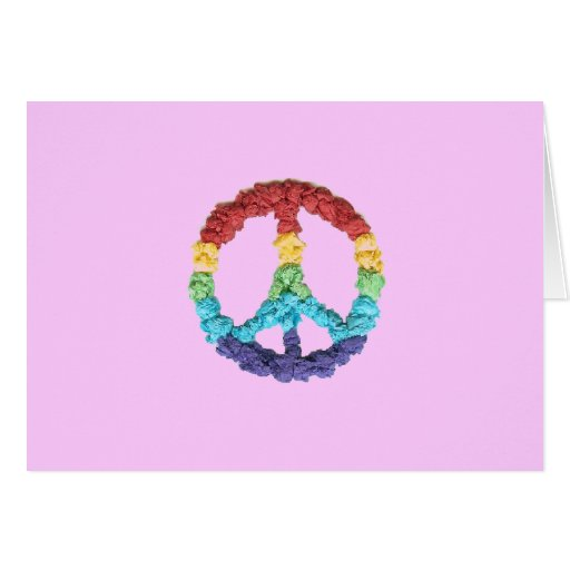 Notecard en blanco del saludo del signo de la paz felicitaciones