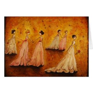 """notecard en blanco """"elegancia"""" por Marabeth Quin Tarjeta"""