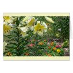 notecard, floral mezclado colorido tarjetón