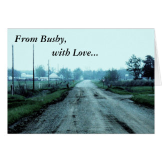 Notecard: From Busby, with Love... Stationery Note Card