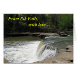 Notecard:  From Elk Falls, with love--- Stationery Note Card