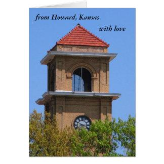 Notecard:  from Howard, Kansas, with love Card