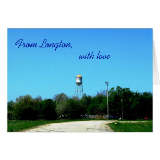 Notecard: From Longton with love Card