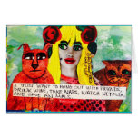 NOTECARD-I JUST WANT TO HANG OUT WITH FRIENDS, STATIONERY NOTE CARD