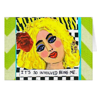 NOTECARD-IT'S SO INVOLVED BEING ME. STATIONERY NOTE CARD