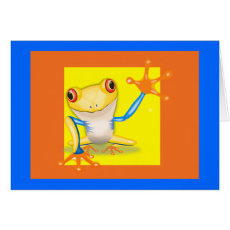 Notecard-Just For Kids-Hello Frog Card