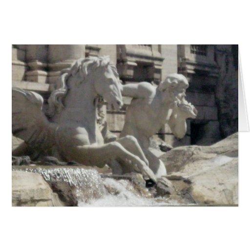 Notecard - la fuente de Treve en Roma Tarjeta De Felicitación