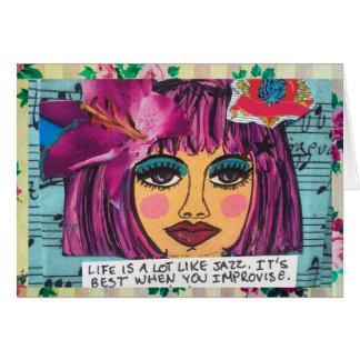 NOTECARD-LIFE IS A LOT LIKE JAZZ. CARD