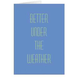 Notecard: Mejore bajo tiempo Tarjeta Pequeña