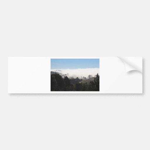 Notecard: Niebla en las colinas Pegatina De Parachoque