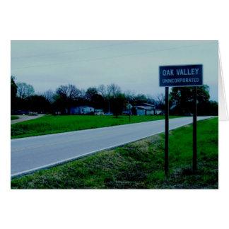 Notecard: Oak Valley, Kansas Card