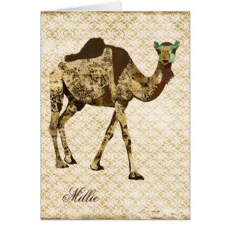 Notecard personalizado camello elegante lamentable
